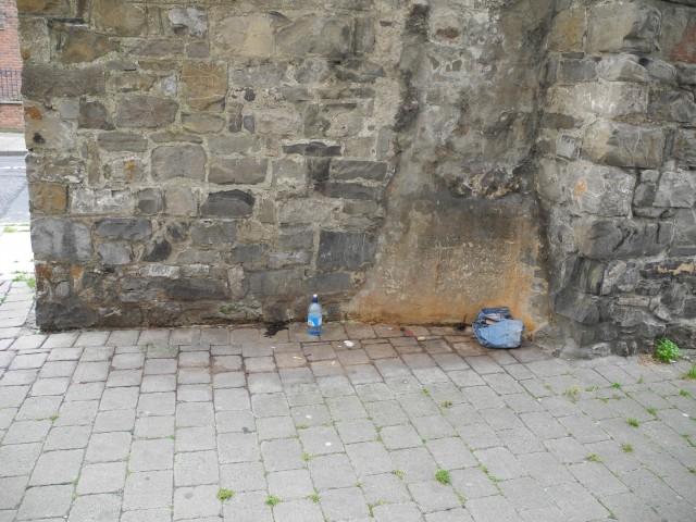Rückseite der Mauer