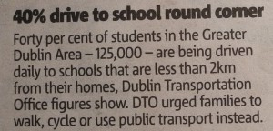 40 Prozent fahren mit dem Auto zur Schule