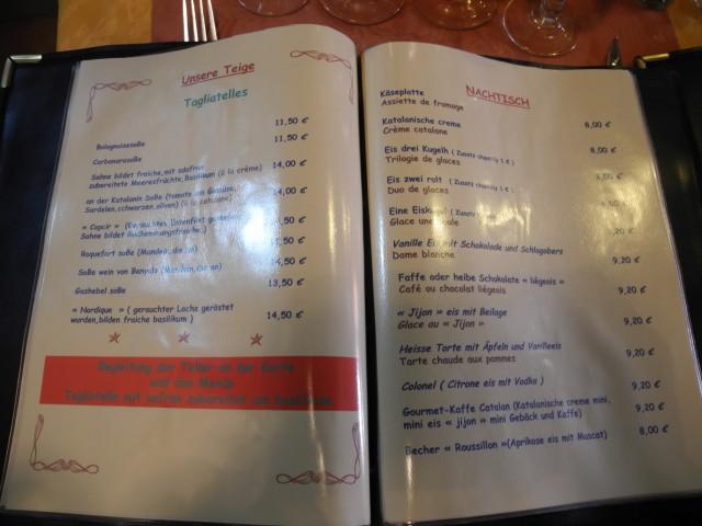 Speisekartenübersetzung 3